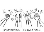 hand drawn sketch style of... | Shutterstock .eps vector #1716157213