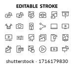 set of images gallery vector... | Shutterstock .eps vector #1716179830