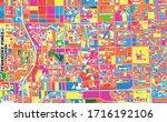 colorful vector map of pembroke ...   Shutterstock .eps vector #1716192106