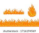 vector fire set. cartoon...   Shutterstock .eps vector #1716194569