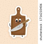 cute cutting board and a...   Shutterstock .eps vector #1716210406