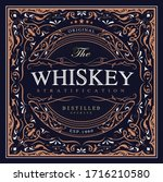 antique label vintage western... | Shutterstock .eps vector #1716210580