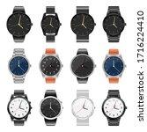 realistic watch set vector...   Shutterstock .eps vector #1716224410