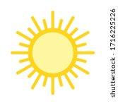 sun flat design element  sign.... | Shutterstock .eps vector #1716225226