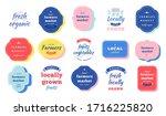 farmers market logo collection  ... | Shutterstock .eps vector #1716225820