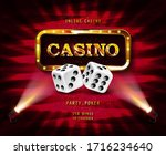 shining sign casino banner... | Shutterstock .eps vector #1716234640