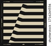 brutalism inspired graphic... | Shutterstock .eps vector #1716264556