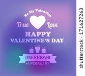 valentine's day badge vector... | Shutterstock .eps vector #171627263