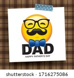 happy father's day greeting... | Shutterstock .eps vector #1716275086