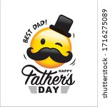 happy father's day greeting... | Shutterstock .eps vector #1716275089