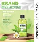 3d illustration of mouthwash ad ... | Shutterstock .eps vector #1716275569