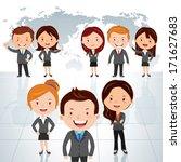 global business team. vector... | Shutterstock .eps vector #171627683
