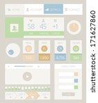 web elements modern flat style...
