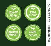 vegan healthy ecology bio... | Shutterstock .eps vector #1716278740
