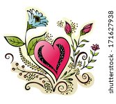 floral heart illustration... | Shutterstock .eps vector #171627938