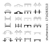 Set Of Bridges Icons. A...