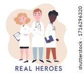 doctor real hero. thank you... | Shutterstock .eps vector #1716296320