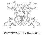 a coat of arms crest heraldic... | Shutterstock .eps vector #1716306010