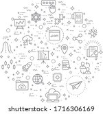 simple set of marketing and seo ...   Shutterstock .eps vector #1716306169