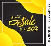 vector illustration of a sale... | Shutterstock .eps vector #1716320713