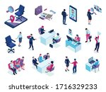 recruitment agency isometric... | Shutterstock .eps vector #1716329233