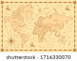 color classic style of world... | Shutterstock .eps vector #1716330070