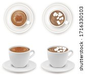 realistic detailed 3d white cup ... | Shutterstock .eps vector #1716330103