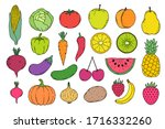 collection of hand drawn... | Shutterstock .eps vector #1716332260