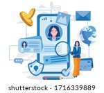 personal data information app... | Shutterstock .eps vector #1716339889