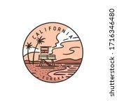 vintage vector round label....   Shutterstock .eps vector #1716346480