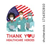 thank you healthcare heroes... | Shutterstock .eps vector #1716352810