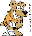 cartoon illustration of a bear... | Shutterstock . vector #171636533