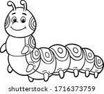 Vector Cartoon Cute Caterpilla...