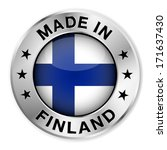 made in finland silver badge... | Shutterstock .eps vector #171637430