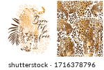 set of print and seamless... | Shutterstock .eps vector #1716378796