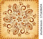 ornate vector doodle flowers...   Shutterstock .eps vector #171638654