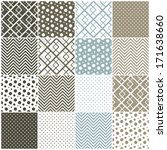 set of 16 seamless patterns...   Shutterstock .eps vector #171638660