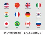 world flags round flat circle... | Shutterstock .eps vector #1716388573