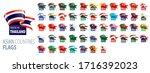 national flags of asian...   Shutterstock .eps vector #1716392023