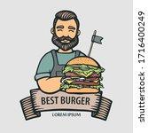 Burger Logo. Hand Drawn Hipster ...