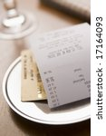 paying restaurant bill with a... | Shutterstock . vector #17164093