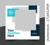 fashion sale social media post... | Shutterstock .eps vector #1716412939