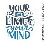 be yourself lettering slogan.... | Shutterstock .eps vector #1716421420