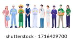 thank you essential workers...   Shutterstock .eps vector #1716429700