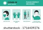 coronavirus covid 19 safety... | Shutterstock .eps vector #1716439276