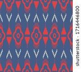 ikat seamless pattern  as cloth ... | Shutterstock .eps vector #1716446800
