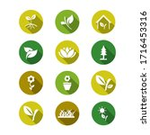 collection of icons for plant... | Shutterstock .eps vector #1716453316