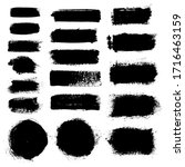 vector black paint ink grunge... | Shutterstock .eps vector #1716463159