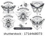 set of vintage emblems with...   Shutterstock .eps vector #1716468073