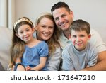 portrait of parents and... | Shutterstock . vector #171647210